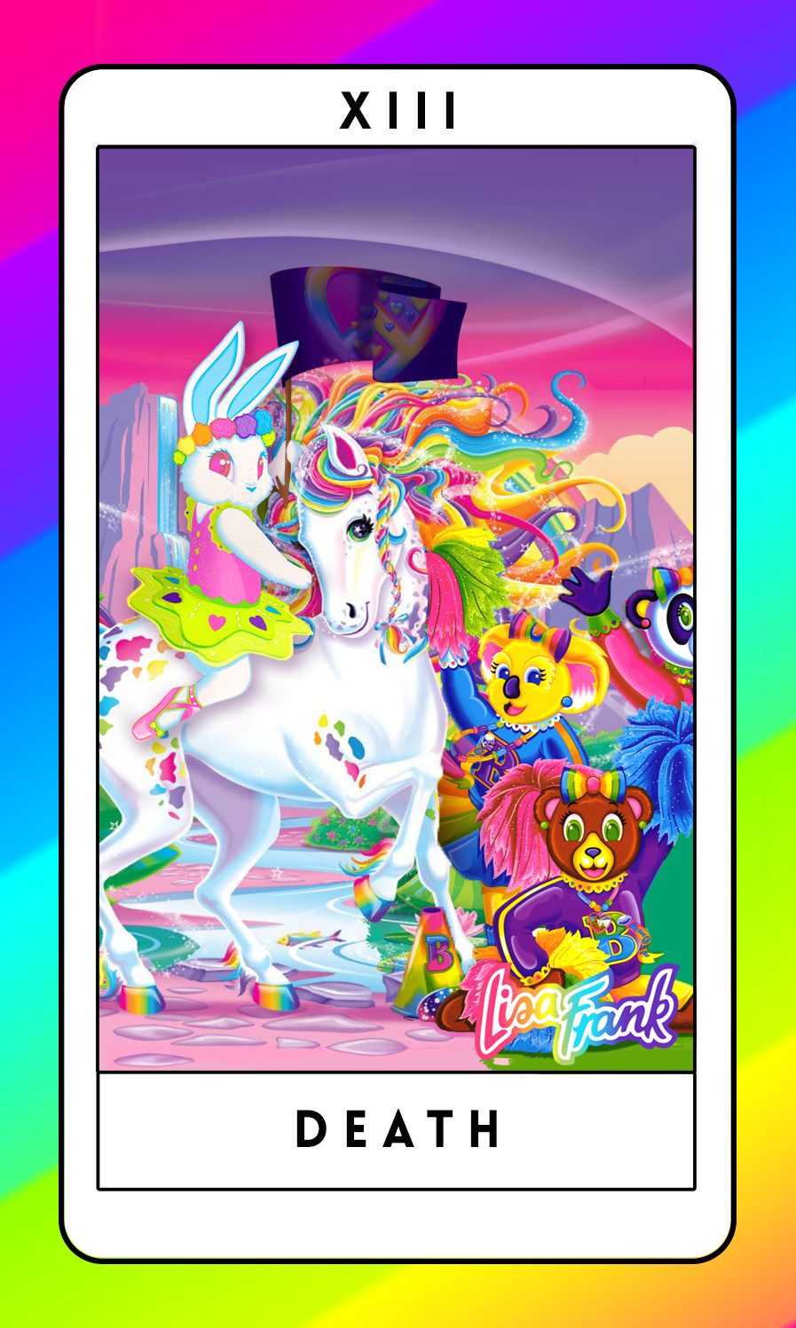 graphic relating to Printable Tarot Cards Pdf titled Designer Lisa Frank Tarot Playing cards, Sure Fairly